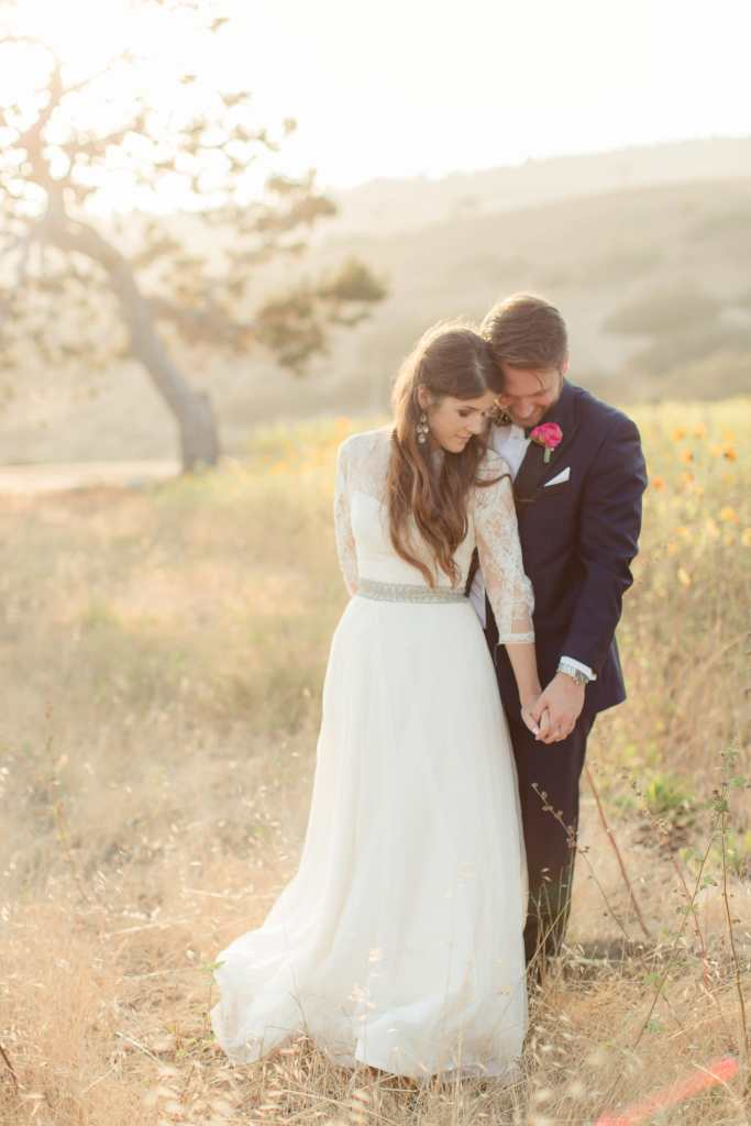 Bride and Groom at Catalina View Gardens | Catered by Made By Meg