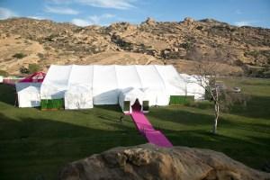 Outdoor Tent at Hummingbird Nest Ranch Wedding