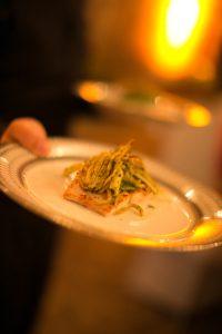 Dinner Plate of Salmon at Hummingbird Nest Ranch Wedding