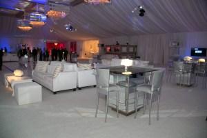 Reception Area at Hummingbird Nest Ranch Wedding