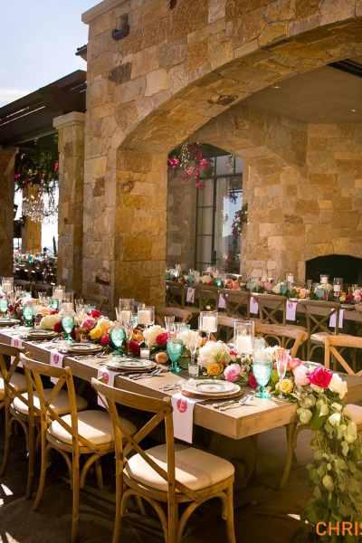 Outdoor Reception Area at Malibu Rocky Oaks Wedding