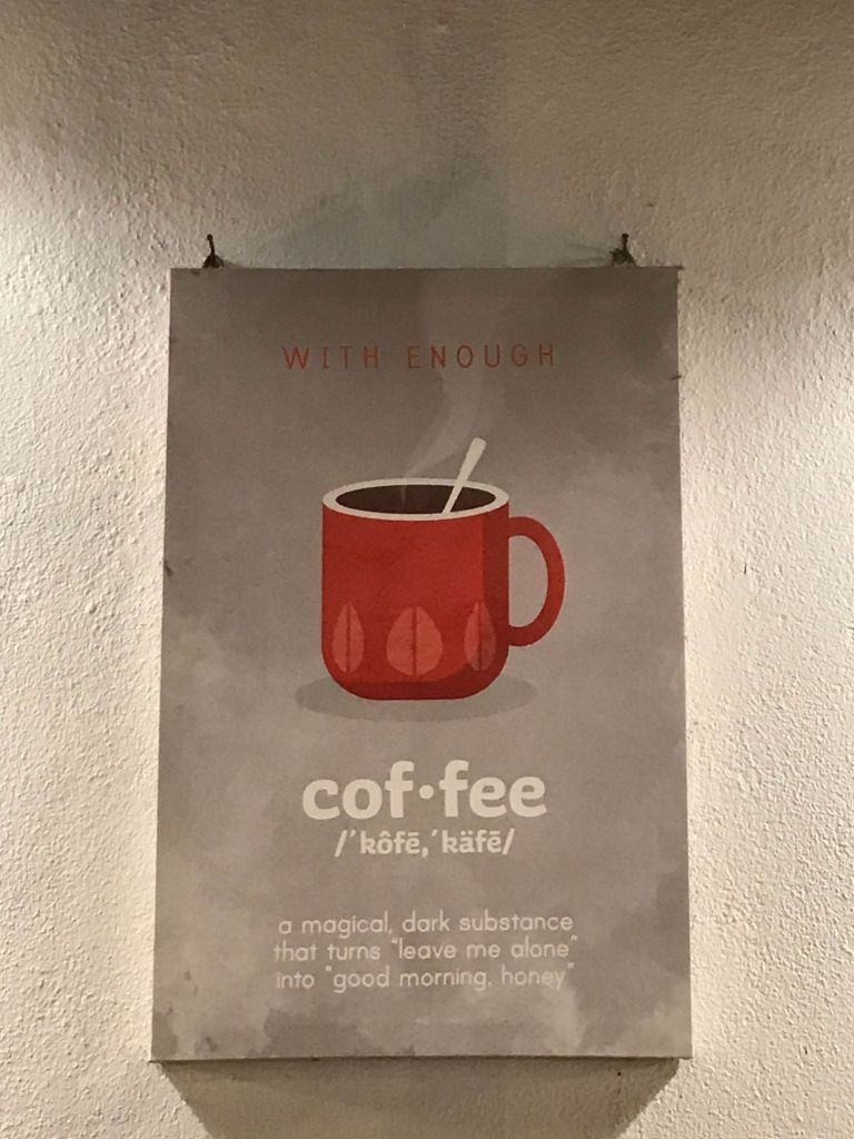 Coffee definition frame at De Bois wall