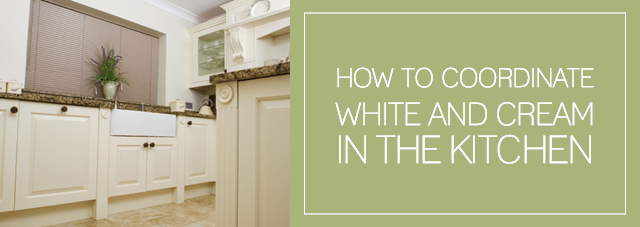 how to coordinate white and cream in