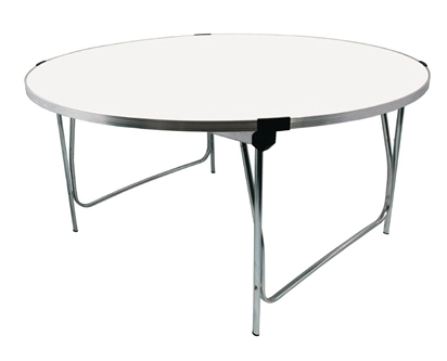 gopak round folding table white adult 5ft