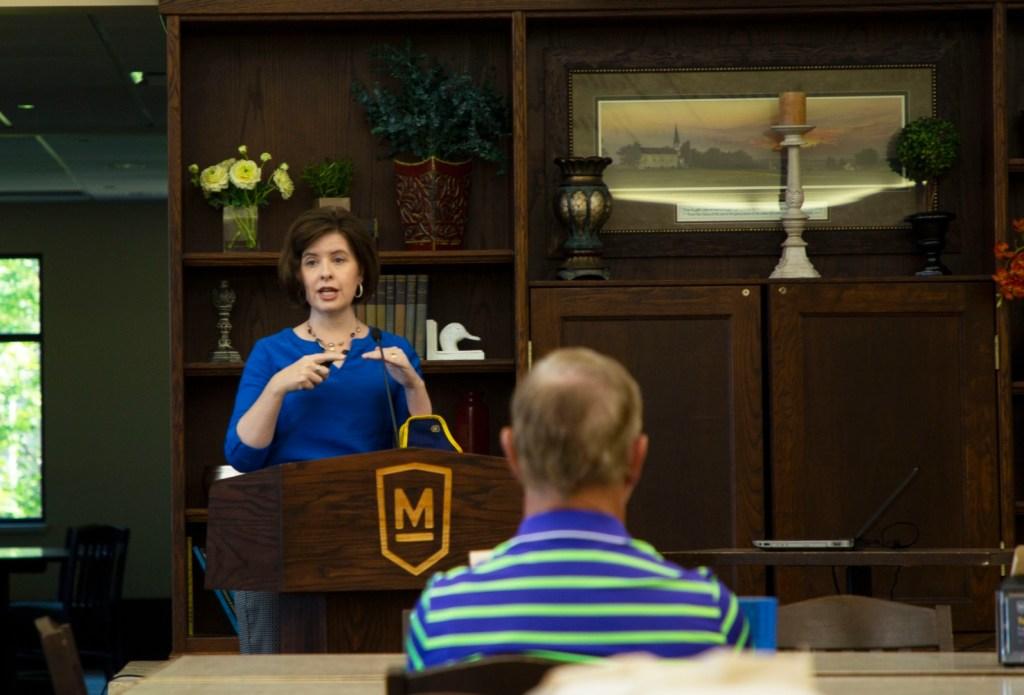 Assistant VP Dana Davis presents Maranatha Online