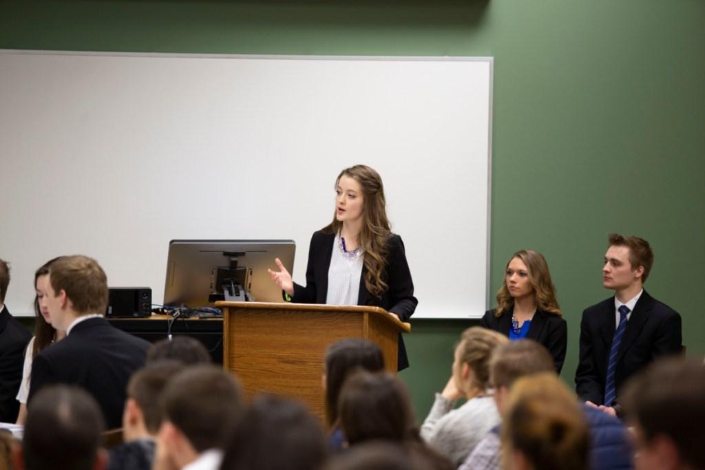 Student presents Business Capstone