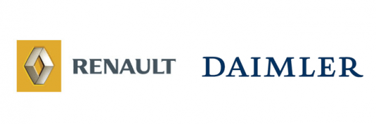 renault daimler logo 540x179 Renault Nissan to Supply Engines for Merc A  and B Class