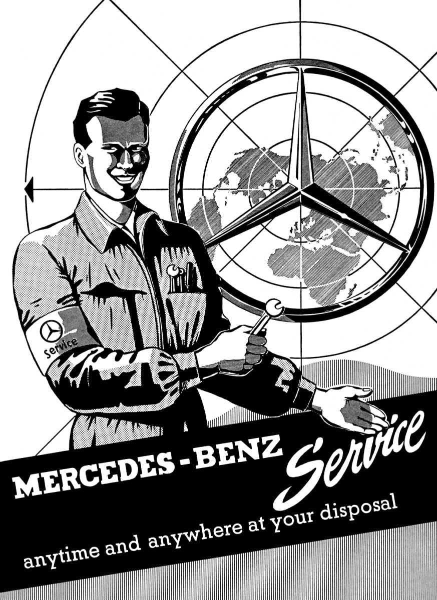 Mercedes benz ponton workshop