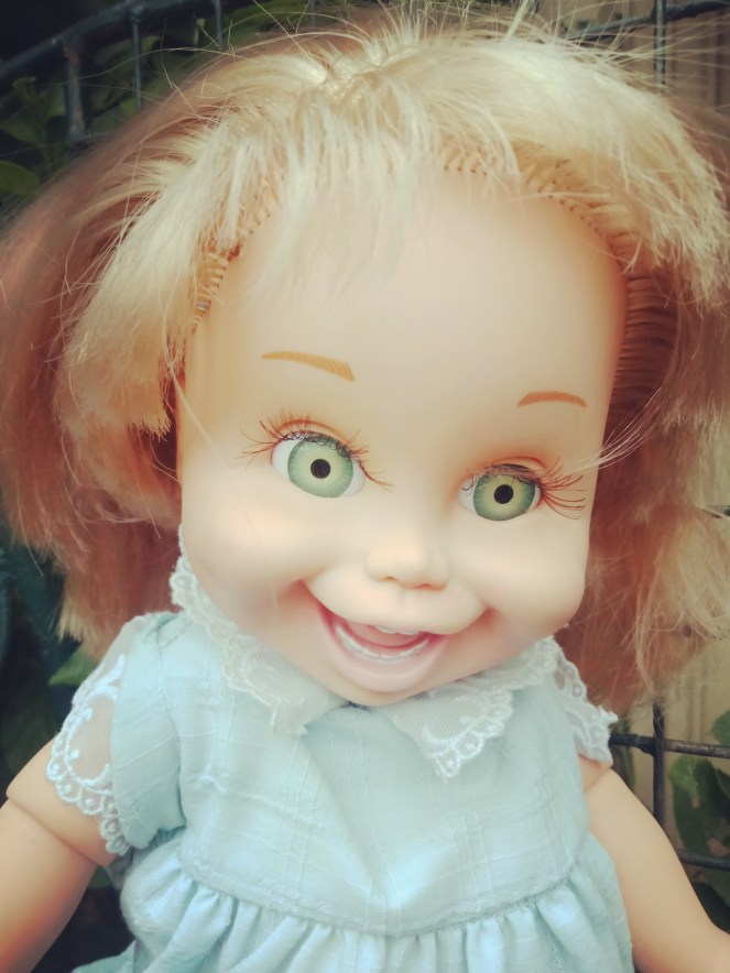 Baby Face Doll So Funny Natalie Green Eyes