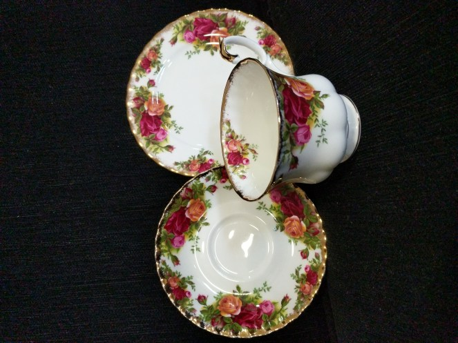 Royal Albert  Old Country  Roses,  trio cup saucer and side plate, made in England