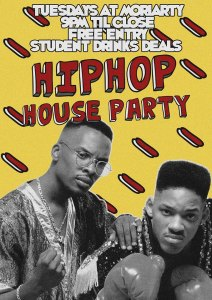 moriarty hip hop tues poster
