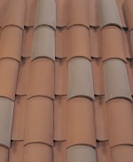 Corona Tapered two piece clay roof tile, B217 Carbon Blend.
