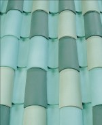 Corona Tapered two piece clay roof tile, B326 Manele Bay Blend.