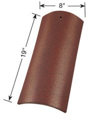 8 inch straight barrel mission clay roof tile dimensions