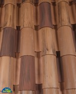 Classic Tapered 2-piece mission clay roof tile, CB416-SC Cafe Viejo Blend