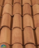 Classic S Mission clay roof tile, CB46-SC Rustic Tuscan Blend.