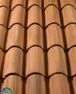 Classic S Mission clay roof tile, CB47-SM Rustic Provence Blend.