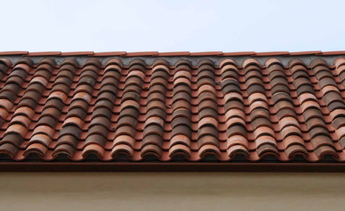 Monrovia Santa Fe Train Depot historical clay roof tile detail