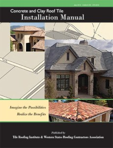 Download TRI Concrete and Clay Roof Tile Installation Manual, The Tile Roofing Institute.