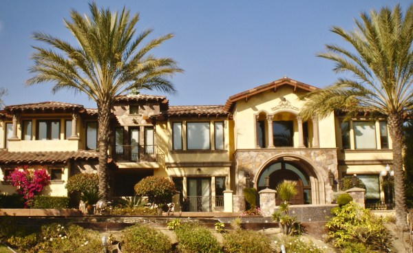 "One Piece ""S"" Mission Clay Roof Tile in 80% Old Barcelona Blend and 20% B220 Madrid Blend - Home in Chino Hills, CA"