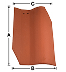 LABS01 Old LA Brick LAB historical S clay roof tile