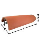LU02-102 102 Hip Roll historical clay roof tile
