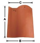 SA01-NCC Old LA Brick S with No Corner Cut historical clay roof tile