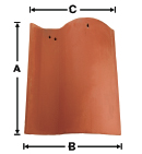SA01-NCC Old LA Brick S with No Corner Cut historical clay roof tile
