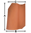 SV01 Old San Valle S historical clay roof tile