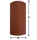 """UV02 9"""" Straight Barrel Mission historical clay roof tile"""