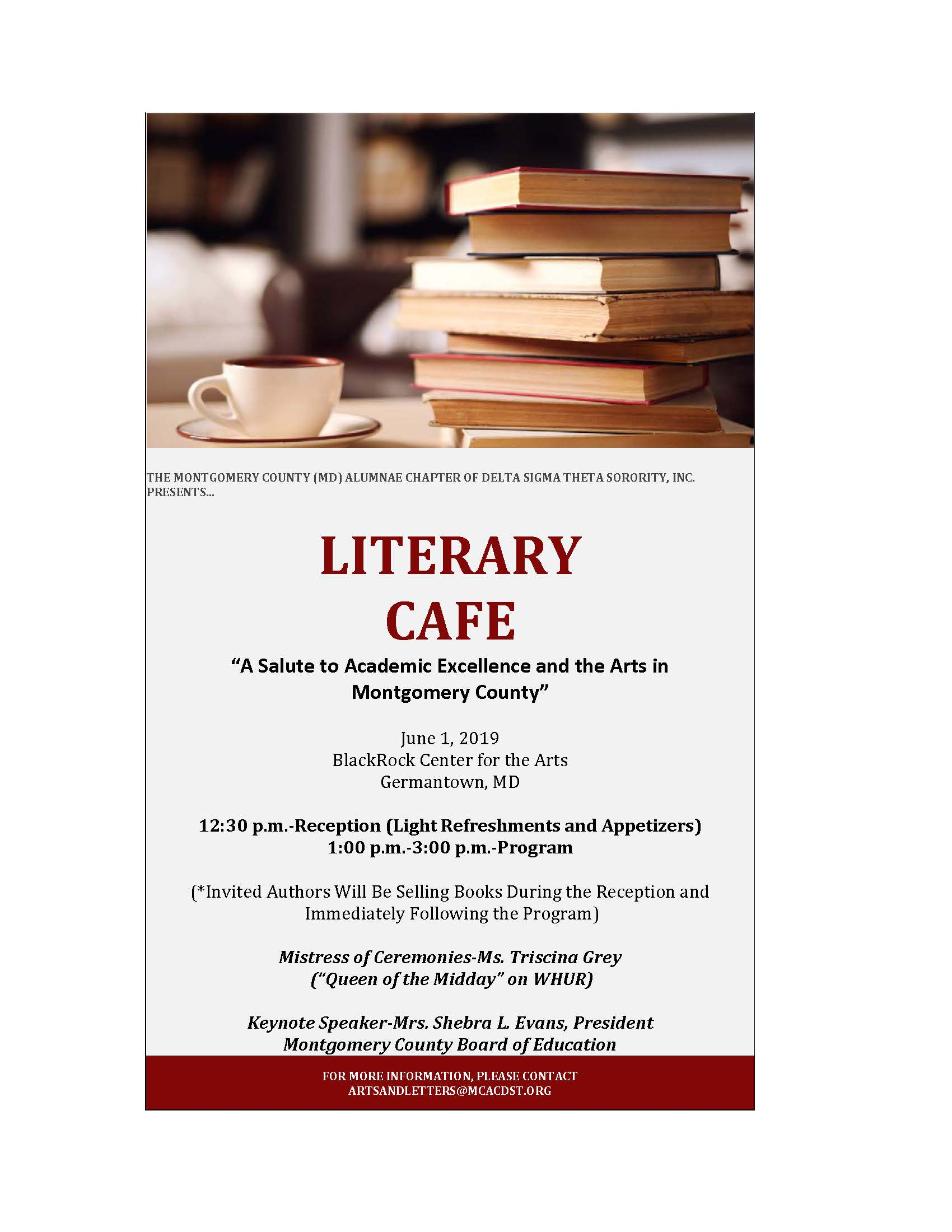 Literary Cafe – Montgomery County (MD) Alumnae Chapter