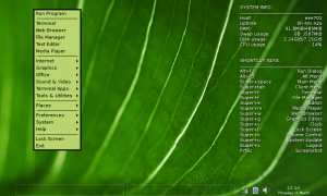 #!CrunchBang Linux - Desktop con Main Menù