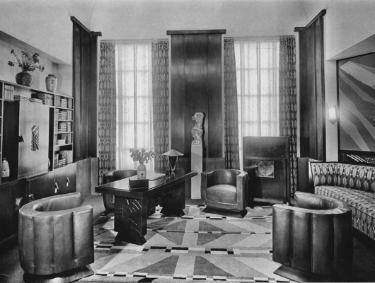 Interior Design by Decade   McArthur Homes Art Deco living room in the 1920s