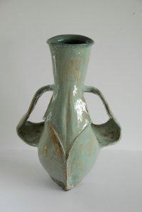 Schedelvaas, aardewerk, 47x33x22 cm