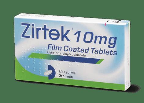 Zirtek Allergy Relief 10mg 30 Pack Hayfever Treatment