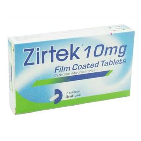 Zirtek 7 Tablets Fast Dispatch