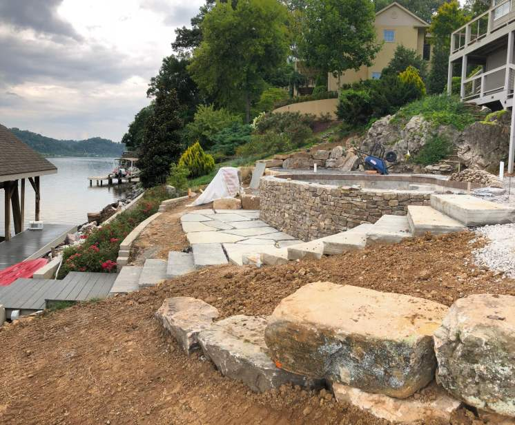 A River-View Pool Provides The Missing Link For Sequoyah Home