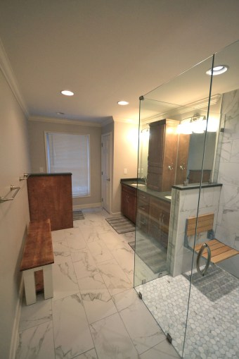 Renovated Riverbend Bathroom Goes From Dated To Daring