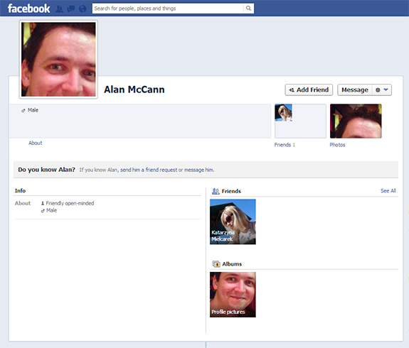 My face but not my facebook...