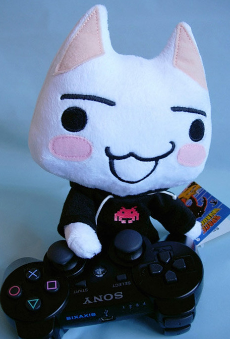 She also liked cartoon Japanese cats, such as PlayStation mascot Toro...