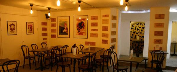 "The Sampler in South Kensington, downstairs wine ""bar""."