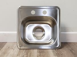 hydros top mount stainless steel bar sink 6 deep