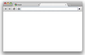 blank google chrome tab
