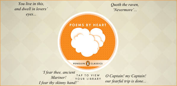 Poems by Heart from Penguin Classics App Home Screen