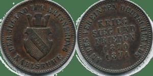 Baden 1871, Commemorative Kreuzer