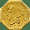 1854 Octagonal California Gold Dollar BG-529a (Obverse).