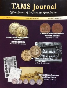Token and Medal Society magazine cover
