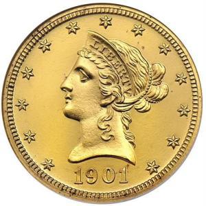 1901 $10 Proof Obverse