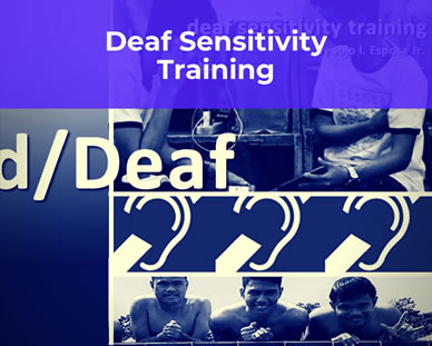 Deaf Sensitivity Training Poster