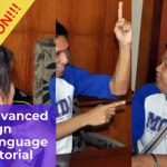Advanced Sign Language Tutorial Poster